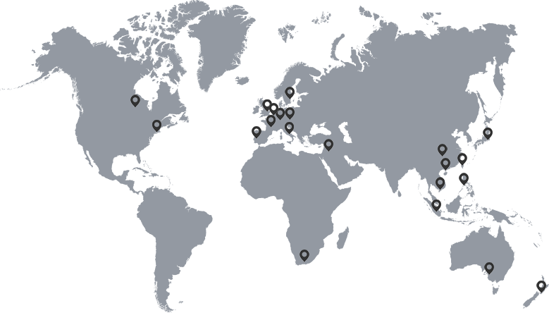 Deben locations world map