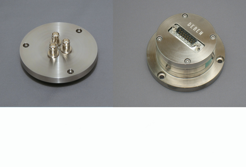 Electrical feedthrough flanges for vacuum chambers & SEM